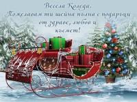 Весела Коледа. Пожелавам ти шейна пълна с подаръци от здраве, любов и късмет!