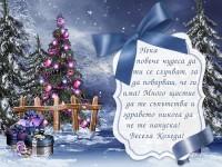 Нека повече чудеса да ти се случват, за да повярваш, че ги има! Много щастие да те съпътства и здравето никога да не те напуска! Весела Коледа!