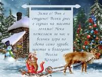 Зима е! Вън е студено! Всеки днес е седнал на масата голяма! Нека пожелаем за нас и всички хора по света само здраве, щастие и благодат! Весела Коледа!