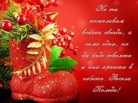 Не ти пожелавам всички звезди, а само една, но да бъде твоята и най-ярката в небето. Весела Коледа!