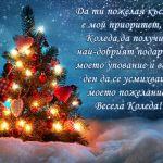 Да ти пожелая късмет е мой приоритет, на Коледа да получиш най-добрият подарък е моето упование и всеки ден да се усмихваш е моето пожелание! Весела Коледа!