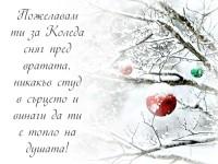 Пожелавам ти за Коледа сняг пред вратата, никакъв студ в сърцето и винаги да ти е топло на душата!