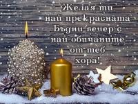 Желая ти най-прекрасната Бъдни вечер с най-обичаните от теб хора!
