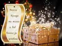 Весела Коледа ти желая и във всичко да успяваш!