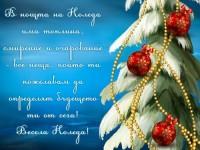 В нощта на Коледа има топлина, смирение и очарование - все неща, които ти пожелавам да определят бъдещето ти от сега! Весела Коледа!