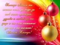 Коледа цветна ти желая сега, да бъде за теб като приказка, здраве и любов да ти даде и от сега нататък да ти е на късмет! Весела Коледа!