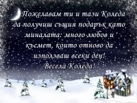 Пожелавам ти и тази Коледа да получиш същия подарък като миналата: много любов и късмет, които отново да използваш всеки ден! Весела Коледа!