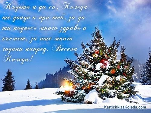 Където и да си, Коледа ще дойде и при теб, за да ти поднесе много здраве и късмет, за още много години напред. Весела Коледа!
