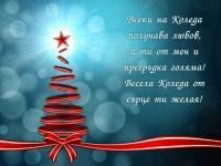 Всеки на Коледа получава любов, а ти от мен и прегръдка голяма! Весела Коледа от сърце ти желая!