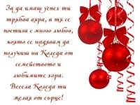 За да имаш успех ти трябва вяра, а тя се постига с много любов, която се надявам да получиш на Коледа от семейството и любимите хора. Весела Коледа ти желая от сърце!