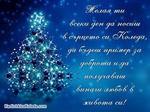 Желая ти всеки ден да носиш в сърцето си Коледа, да бъдеш пример за доброта и да получаваш винаги любов в живота си!