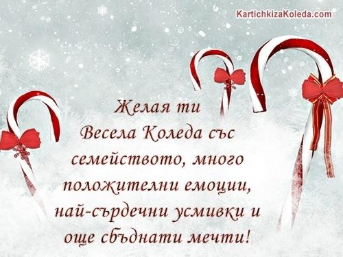 Желая ти Весела Коледа със семейството, много положителни емоции, най-сърдечни усмивки и още сбъднати мечти!
