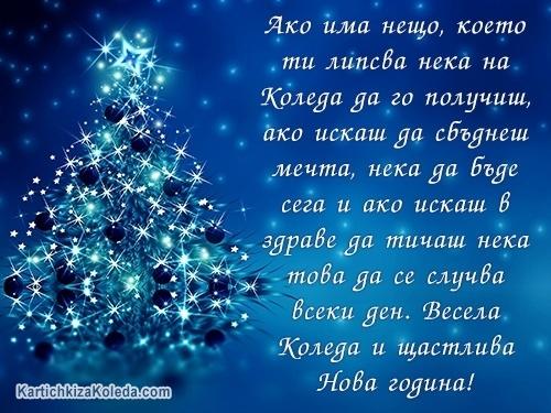 Ако има нещо, което ти липсва нека на Коледа да го получиш, ако искаш да сбъднеш мечта, нека да бъде сега и ако искаш в здраве да тичаш нека това да се случва всеки ден. Весела Коледа и щастлива Нова година!