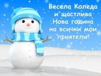 Весела Коледа и щастлива Нова година на всички мои приятели